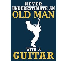 Old Man - With A Guitar Photographic Print