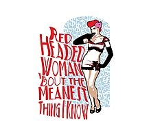 Red Headed Woman Photographic Print
