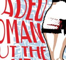 Red Headed Woman Sticker
