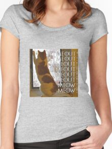 Let me out, lemeout, meout, meow Women's Fitted Scoop T-Shirt