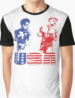 Rocky vs Drago - USA Patriotic Design - Rocky IV - Greatest Boxing Movie of All Time - I Must Break You Graphic T-Shirt