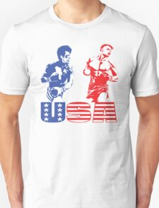 Rocky vs Drago - USA Patriotic Design - Rocky IV - Greatest Boxing Movie of All Time - I Must Break You Unisex T-Shirt