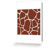 Giraffe seamless pattern texture Greeting Card