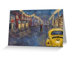 Storybrooke in the Rain Greeting Card