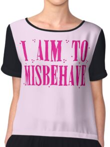 I aim to misbehave in pink Chiffon Top