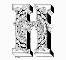 H - Mandala N°1 inside Alphabet N°1 Unisex T-Shirt