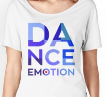 Dance Emotion t shirt blue square Women's Relaxed Fit T-Shirt