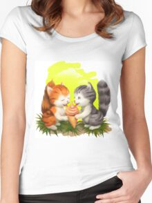 For LOVERS. For BELOVED. For FAMILY, For FRIENDS Women's Fitted Scoop T-Shirt