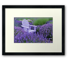 Come and sit among the Lavender Framed Print