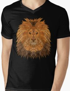King Lion Mens V-Neck T-Shirt