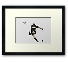 Rugby Goal Kick Illustration Framed Print