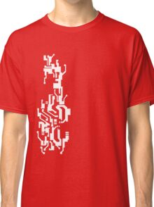 Mirror's Edge Faith digital tattoo pattern, white design Classic T-Shirt
