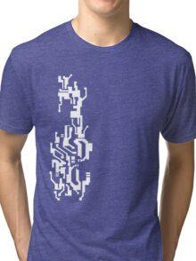 Mirror's Edge Faith digital tattoo pattern, white design Tri-blend T-Shirt