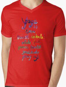 Yoga is love...&... Mens V-Neck T-Shirt