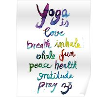 Yoga is love...&... Poster