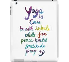 Yoga is love...&... iPad Case/Skin