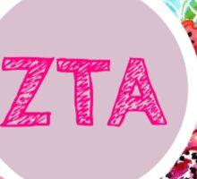Zeta Tau Alpha Floral Design Sticker