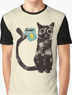 Cat drinking coffee Graphic T-Shirt