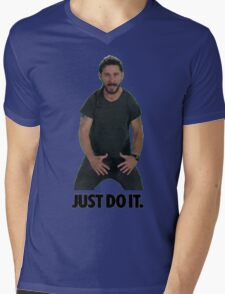 Shia LaBeouf Just Do It Mens V-Neck T-Shirt