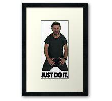 Shia LaBeouf Just Do It Framed Print