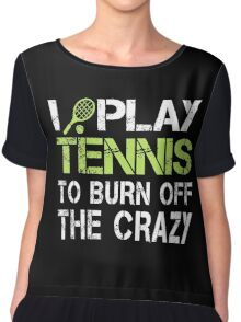I PLAY TENNIS  Chiffon Top