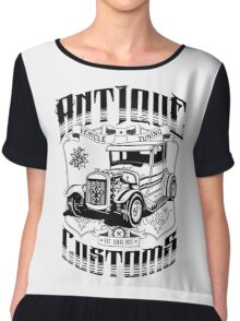 Hot Rod - Antique Customs (black) Chiffon Top