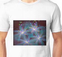 Shimmery 3d fractal flowers 4 Unisex T-Shirt
