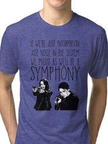 Root and Shaw - Symphony - Person of interest Tri-blend T-Shirt