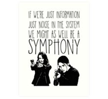 Root and Shaw - Symphony - Person of interest Art Print