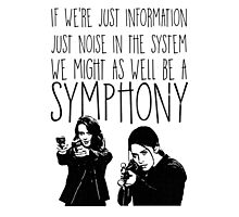 Root and Shaw - Symphony - Person of interest Photographic Print