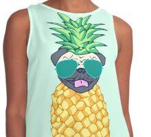 pineapple pug Contrast Tank