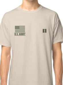 Captain Infantry US Army Rank Desert by Mision Militar ™ Classic T-Shirt