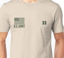 Captain Infantry US Army Rank Desert by Mision Militar ™ Unisex T-Shirt