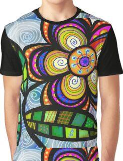 Folk Art Flower Graphic T-Shirt