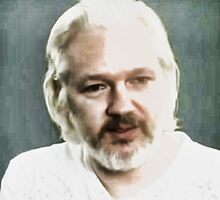 God Bless Julian Assange by Albert