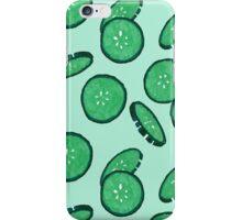 Cucumber print iPhone Case/Skin