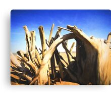Driftwood Sculpture Canvas Print