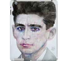 FRANZ KAFKA - watercolor portrait iPad Case/Skin