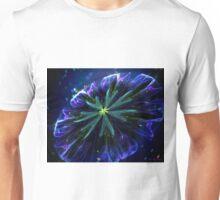 Blue silky flower Unisex T-Shirt