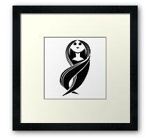 Girl with long hair Framed Print