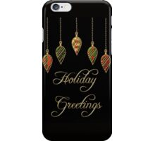 Merry Christmas Holiday Greetings  iPhone Case/Skin