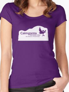 Cairngorms National Park Sign, Scotland, UK Women's Fitted Scoop T-Shirt