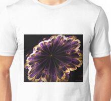 Purple silk and gold Flower Unisex T-Shirt