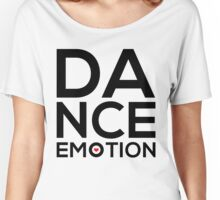 Dance Emotion t-shirt with red heart Women's Relaxed Fit T-Shirt