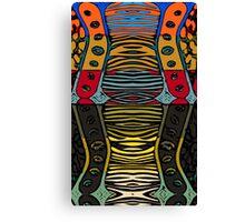 Cartoon Zebra Lips Pattern  Canvas Print