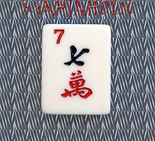 Mahjaholic Lucky Seven with Zebra Design-#14 by Susan Werby