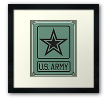 ARMY, United States, America, American, US, USA, Shoulder Sleeve, Insignia, Headquarters,  Framed Print