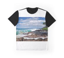 Turqouise Breakers of Makena, Hawaii Graphic T-Shirt
