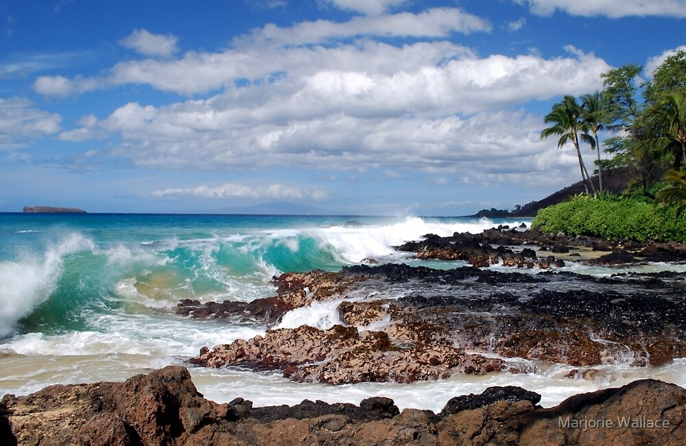 Turqouise Breakers of Makena, Hawaii by Marjorie Wallace