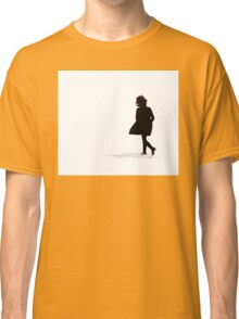Woman Running in Snow Classic T-Shirt